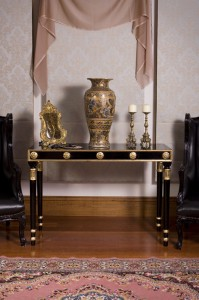 Black & Gold Console Table