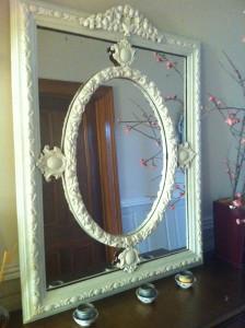 Rococo White Mirror
