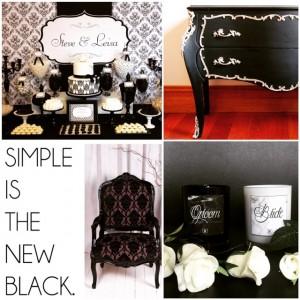 Black and White Rococo