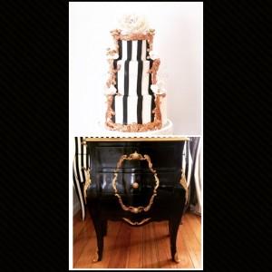 Cake Stand Black Rococo